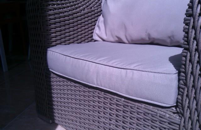Coj n cama de jard n exterior impermeable colchoneta con tela impermeable cojines de exterior - Cojines exterior ...