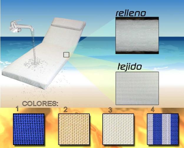 Cojin tumbona textilene 185x55cm 196x60cm cojines de exterior - Cojines exterior ...