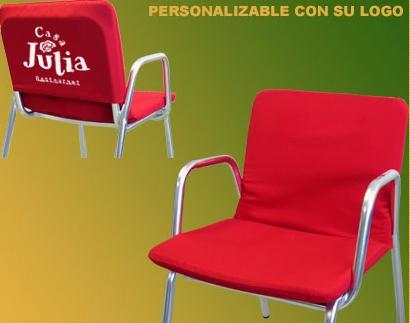 Coj n sillas terraza asiento y respaldo 80 44 3 cm for Hacer cojines para sillas