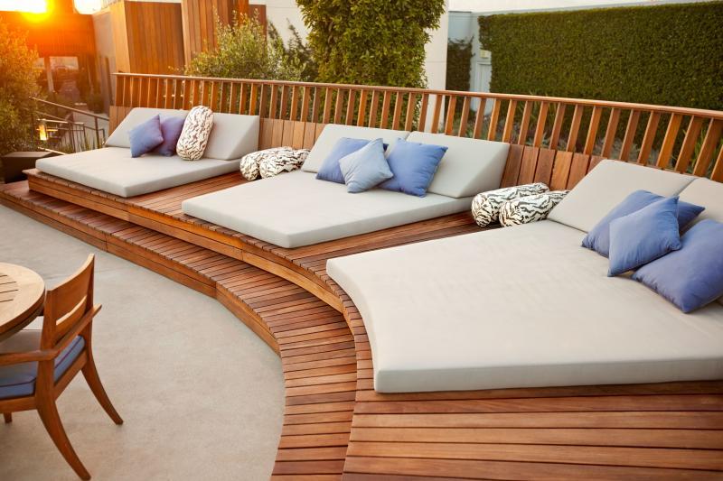 Coj n exterior cama de jard n colchoneta acrilico 100 - Colchonetas para tumbonas jardin ...