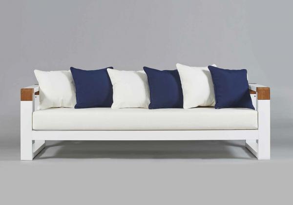 Cojin exterior asiento para sof de jard n tela acrilica a medida cojines de exterior - Muebles exterior tela nautica ...