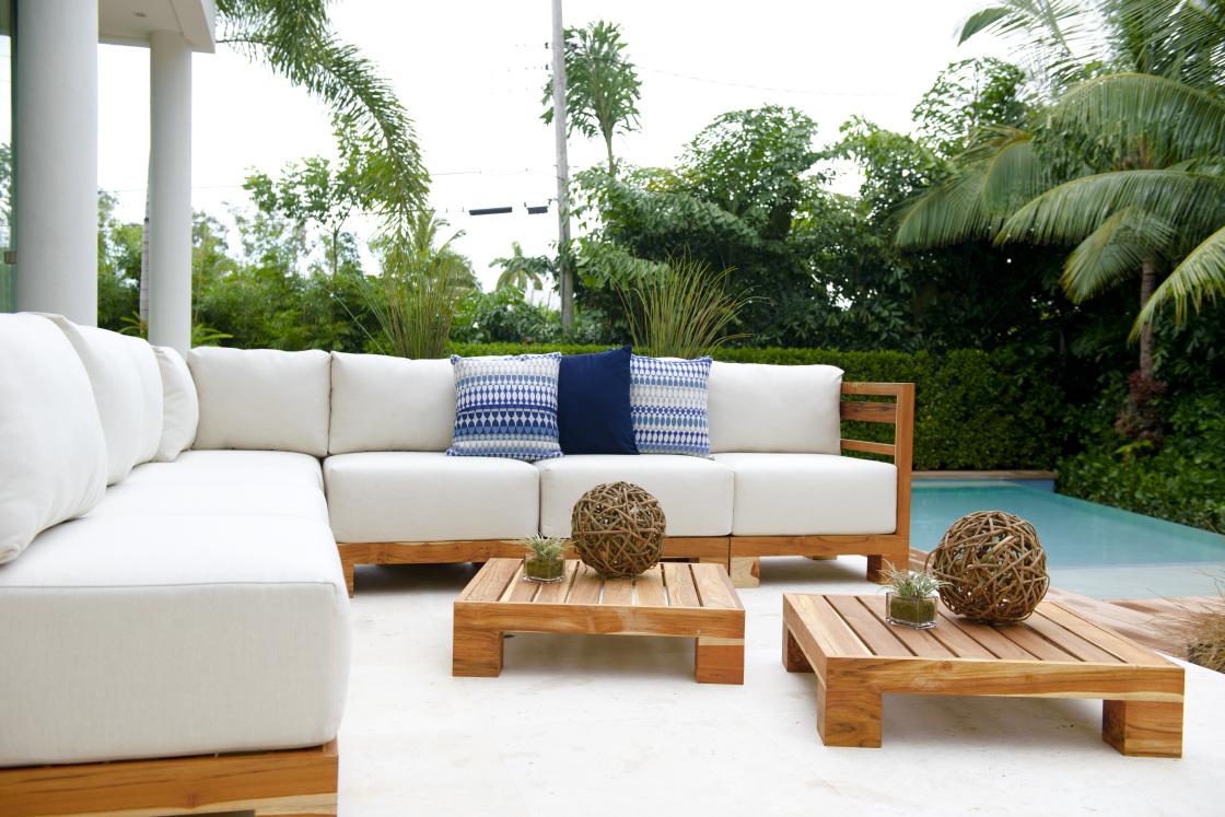 Cojin exterior asiento para sof de jard n tela acrilica a for Tela sofa exterior