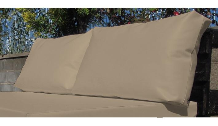 2 uds coj n exterior respaldo palet medida est ndar 120x80 for Tela exterior impermeable