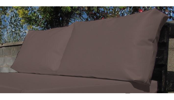 2 uds coj n exterior respaldo impermeable medida palet - Tela impermeable para exterior ...