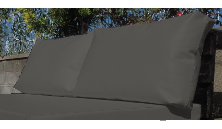 2 uds coj n exterior respaldo palet medida est ndar 120x80 for Sofa tela nautica