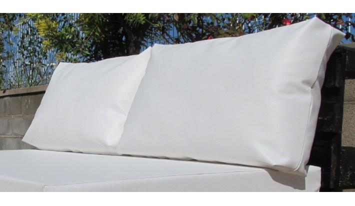 2 uds coj n exterior respaldo palet medida est ndar 120x80 - Cojines exterior impermeables ...