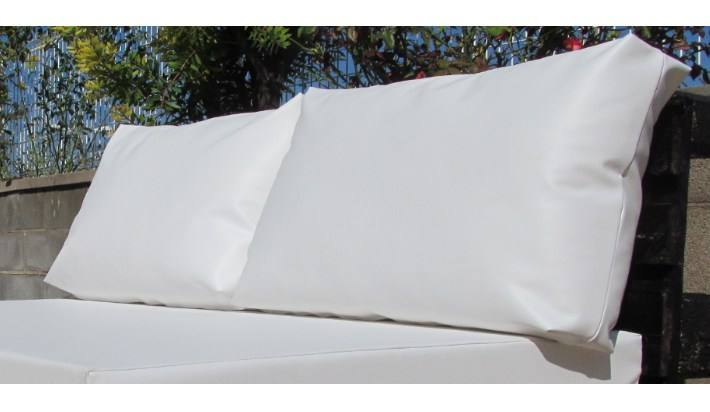 2 uds coj n exterior respaldo palet medida est ndar 120x80 - Tela impermeable para exterior ...