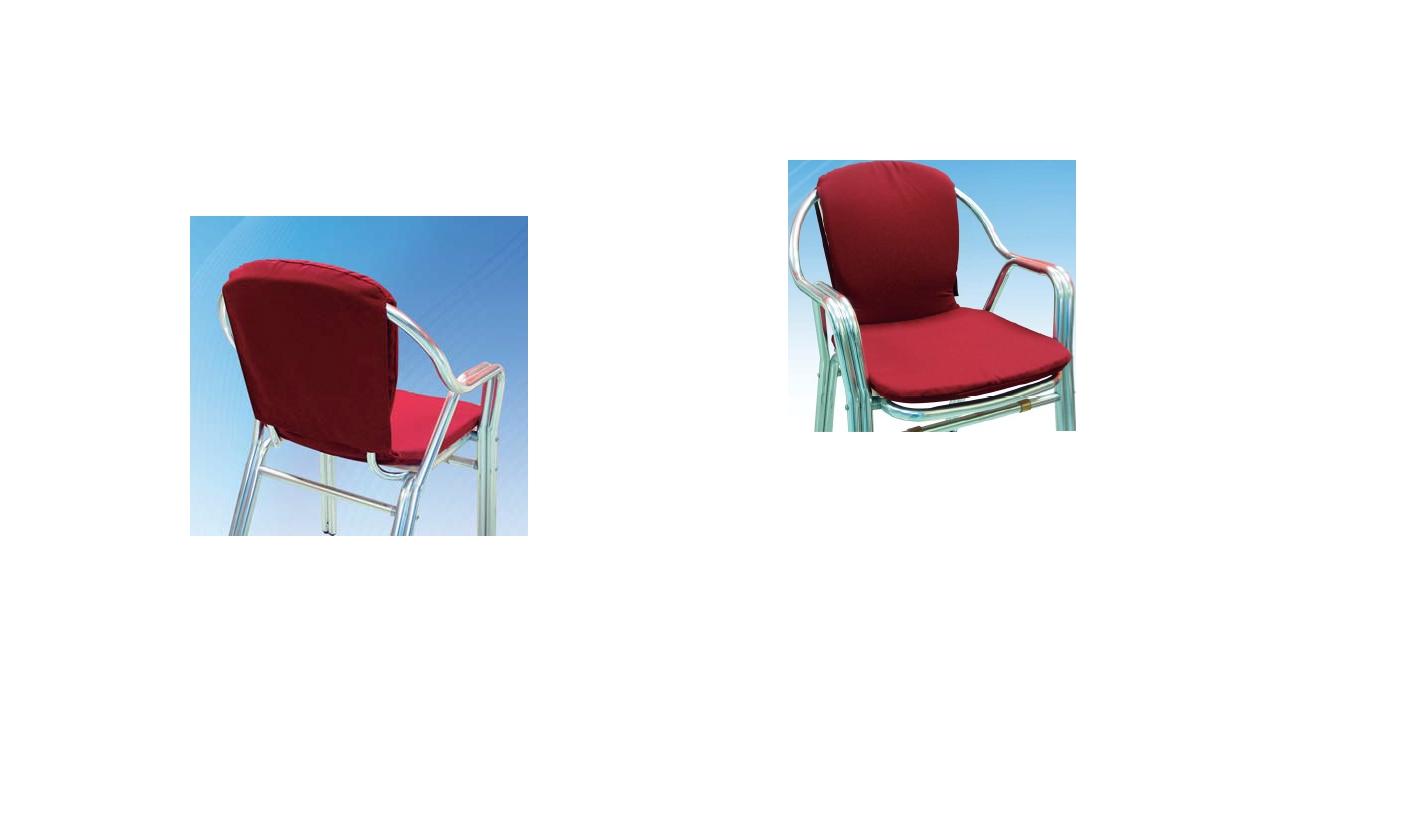 Coj n sillas terraza asiento y respaldo curvo 85 44 3 cm - Cojines para sillas terraza ...