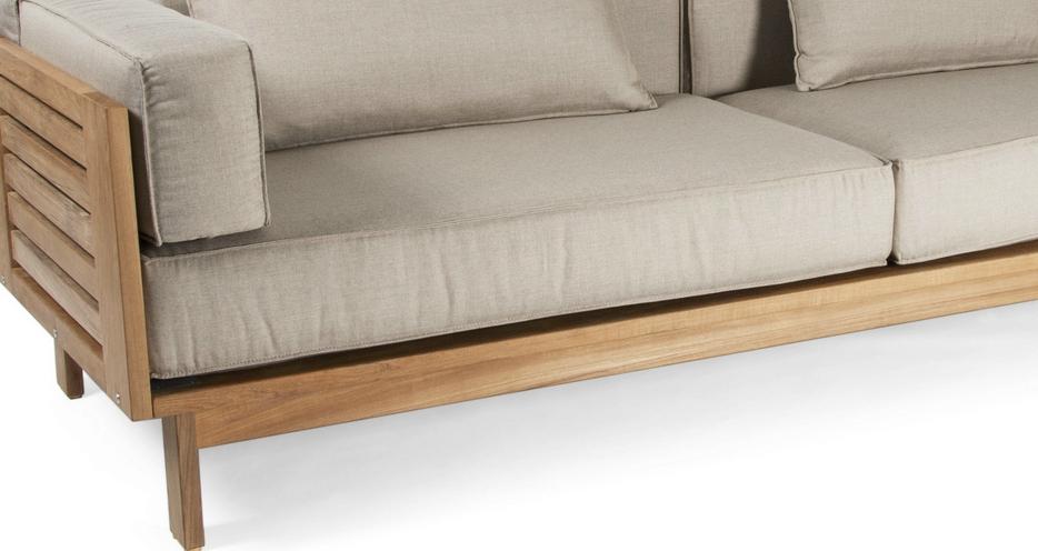 Coj n sillones exterior de asiento for Sofa tela nautica
