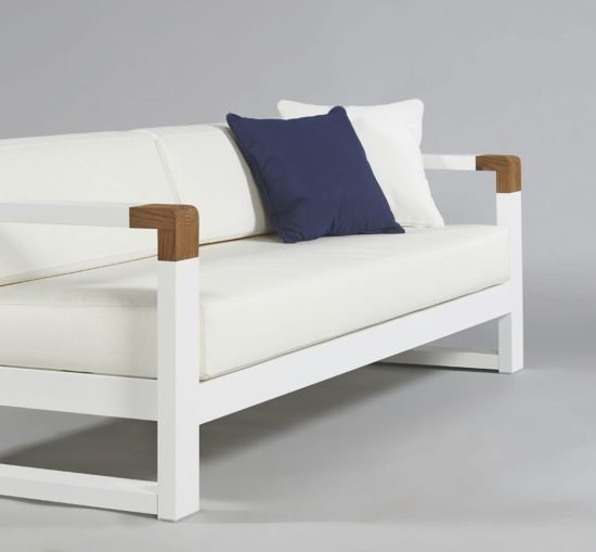 Cojin exterior asiento para sof de jard n tela acrilica a - Cojines muebles exterior ...