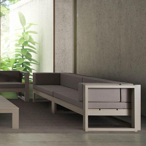 Cojin respaldo tela 100 impermeable n utica sill n exterior a medida cojines de exterior - Muebles exterior tela nautica ...