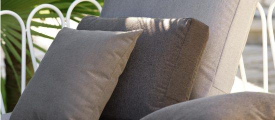 Cojin exterior asiento para sof de jard n tela acrilica a - Cojines exterior impermeables ...