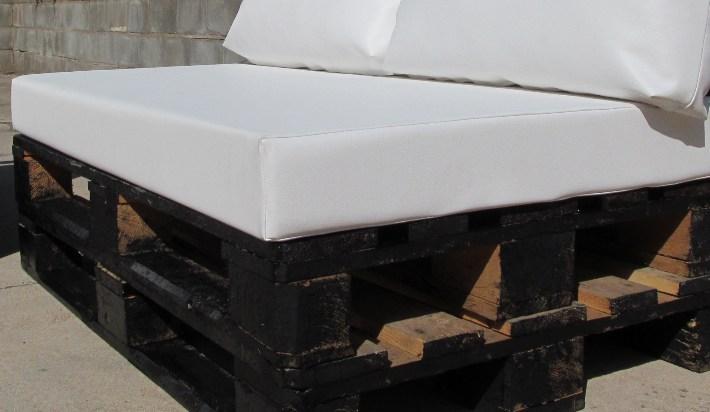 Cojín de palet asiento exterior medida estándar 120x80   Cojines