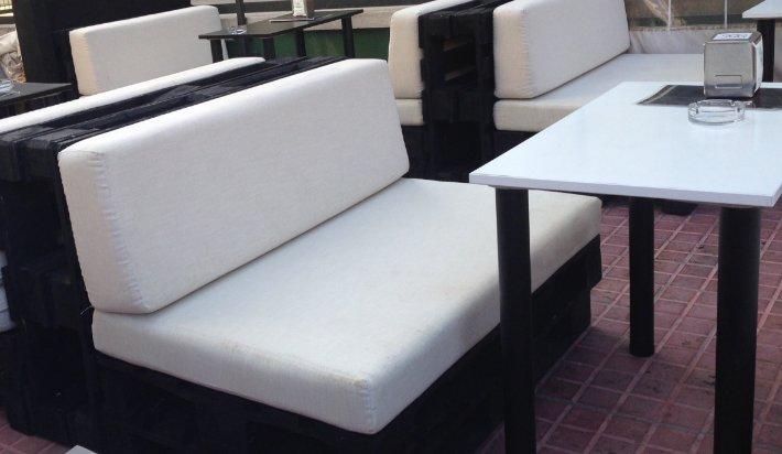 Coj n de palet asiento exterior medida est ndar 120x80 for Tela sofa exterior
