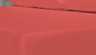 cojin tela sintética impermeable rojo