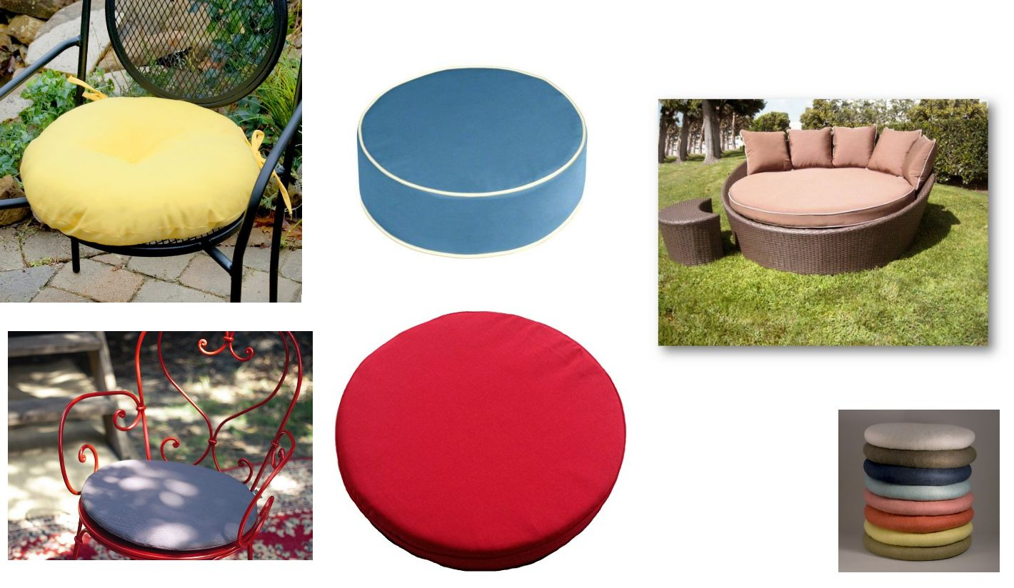Cojines de exterior redondos cojines de exterior - Cojines redondos para sillas ...
