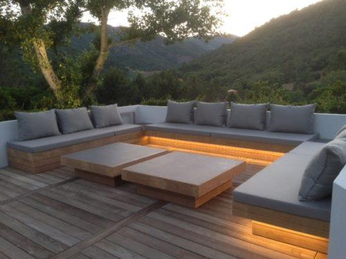 Cojines de exterior for Sofa tela nautica